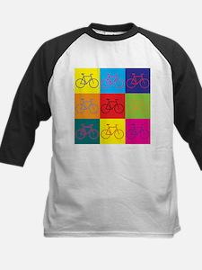 Bicycling Pop Art Kids Baseball Jersey