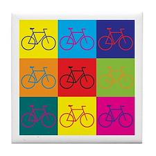 Bicycling Pop Art Tile Coaster
