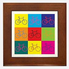 Bicycling Pop Art Framed Tile