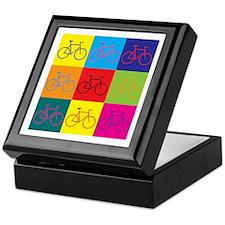 Bicycling Pop Art Keepsake Box