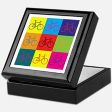 Bicycling Pop Art Keepsake Box