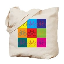 Bicycling Pop Art Tote Bag