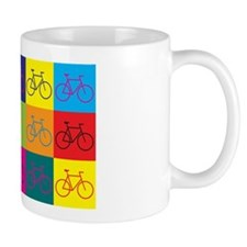 Bicycling Pop Art Small Mug