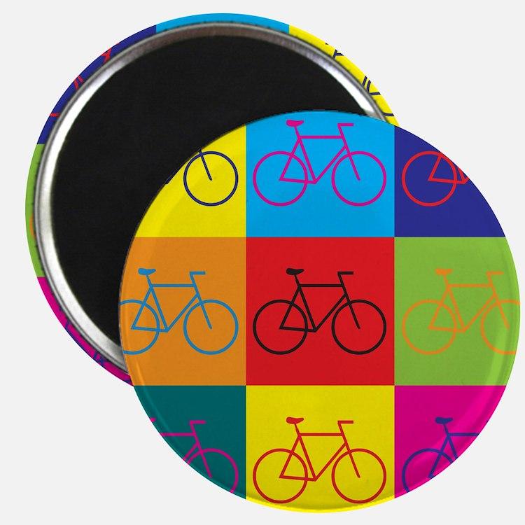 "Bicycling Pop Art 2.25"" Magnet (10 pack)"