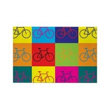 Bicycling Pop Art Rectangle Magnet