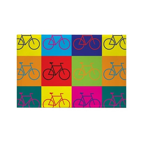 Bicycling Pop Art Rectangle Magnet (100 pack)