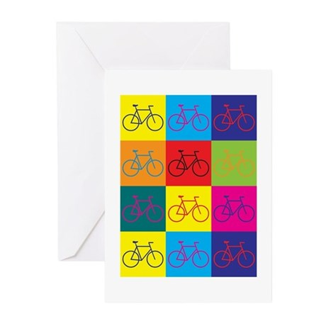 Bicycling Pop Art Greeting Cards (Pk of 10)