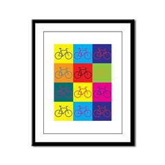 Bicycling Pop Art Framed Panel Print