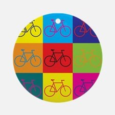 Bicycling Pop Art Ornament (Round)