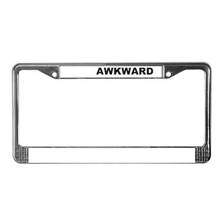 Awkard License Plate Frame