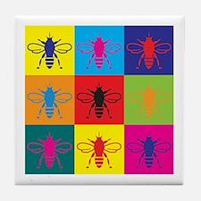 Bees Pop Art Tile Coaster