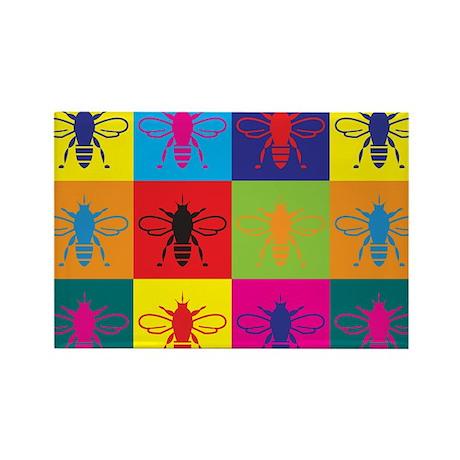 Bees Pop Art Rectangle Magnet
