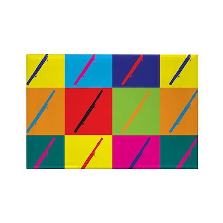 Bassoon Pop Art Rectangle Magnet