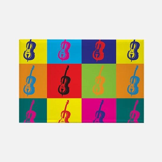 Bass Pop Art Rectangle Magnet