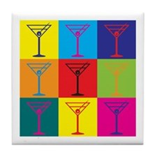 Bartending Pop Art Tile Coaster