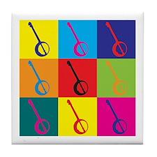 Banjo Pop Art Tile Coaster