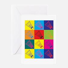 Badminton Pop Art Greeting Card