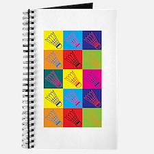 Badminton Pop Art Journal