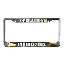 Operation Poodle Mix License Plate Frame