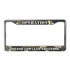 Operation Polish Lowland Shpdg License Plate Frame