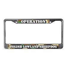 Operation Polish Lowland Shpdg License Plate Frame
