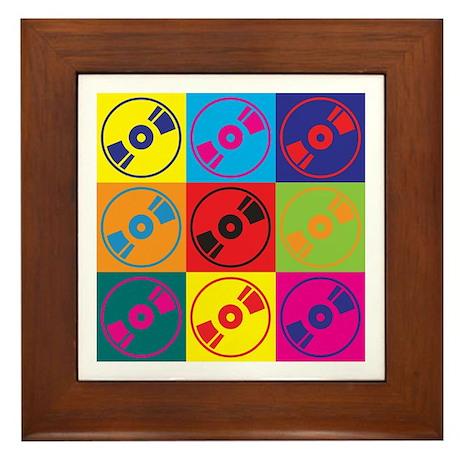 Audio and Video Pop Art Framed Tile