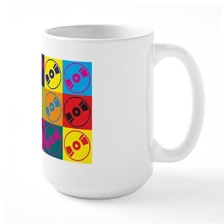 Audio and Video Pop Art Large Mug