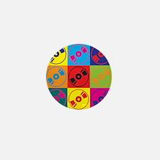 Audio and Video Pop Art Mini Button