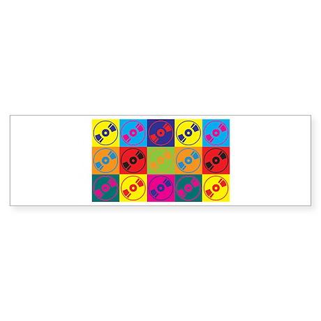 Audio and Video Pop Art Bumper Sticker