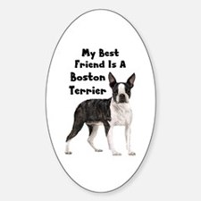 Boston Terrier Sticker (Oval)