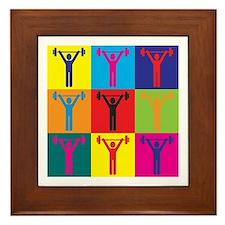 Athletic Training Pop Art Framed Tile
