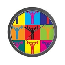 Athletic Training Pop Art Wall Clock