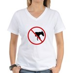 No Half-Assed Women's V-Neck T-Shirt