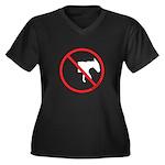 No Half-Assed Women's Plus Size V-Neck Dark T-Shir