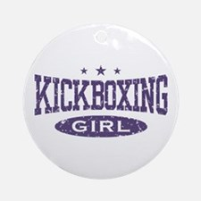 Kickboxing Girl Ornament (Round)