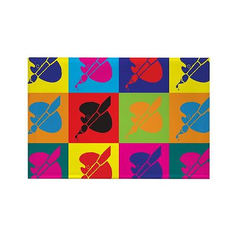 Art Pop Art Rectangle Magnet (10 pack)