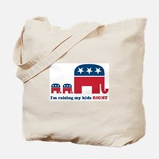 Raising My Kids Right Tote Bag