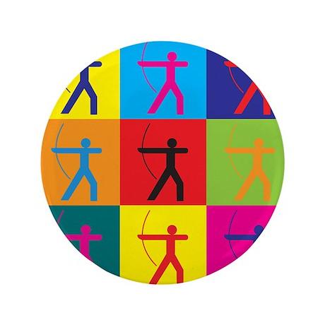 """Archery Pop Art 3.5"""" Button (100 pack)"""