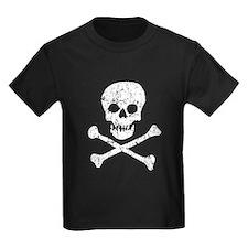 Skull & Crossbones (White) T
