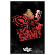 Gotg I Am Groot Wall Art Poster