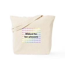 Cute Ribbed Tote Bag