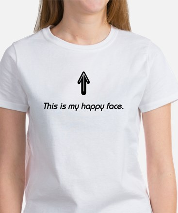 This is my happy face. Women's T-Shirt