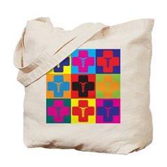 Anesthesiology Pop Art Tote Bag