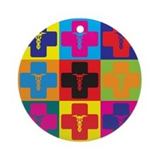 Anesthesiology Pop Art Ornament (Round)