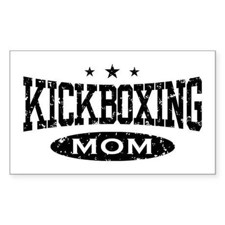 Kickboxing Mom Rectangle Sticker