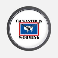 I'm Wanted In Wyoming Wall Clock