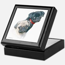 Two Pugs Keepsake Box