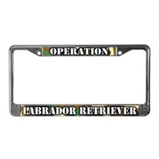 Operation Labrador Retriever License Plate Frame