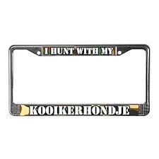 Hunting Kooikerhondje License Plate Frame