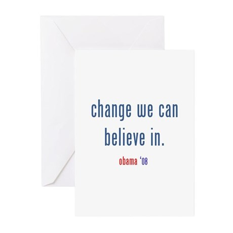 change we can believe in Greeting Cards (Pk of 10)